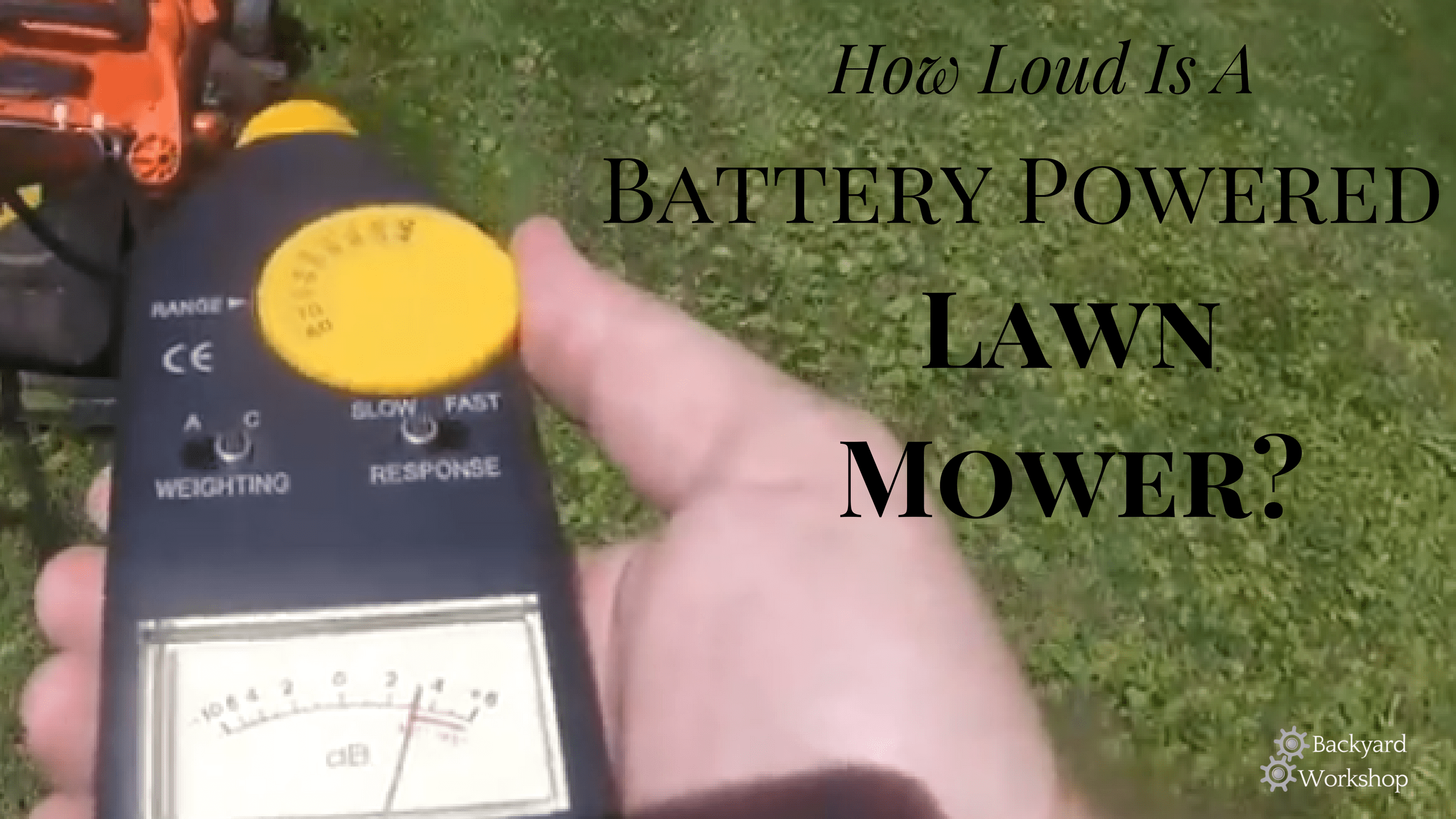 battery powered lawn mower noise