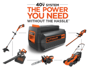 40V is enough for the best battery weed wacker from Black+Decker