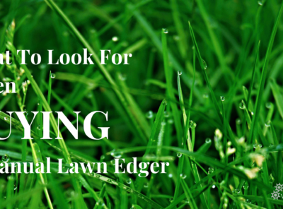 What To Look For When Buying A Manual Lawn Edger