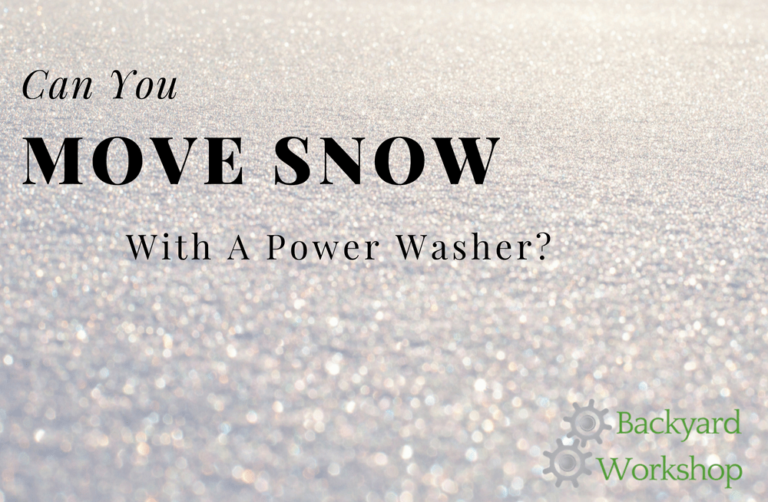 Can You Remove Snow with a Power Washer?