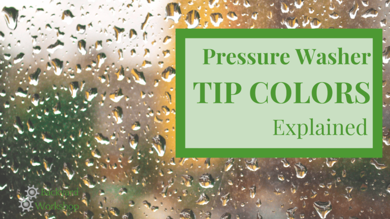 Pressure Washer Nozzle Colors Explained in Plain English