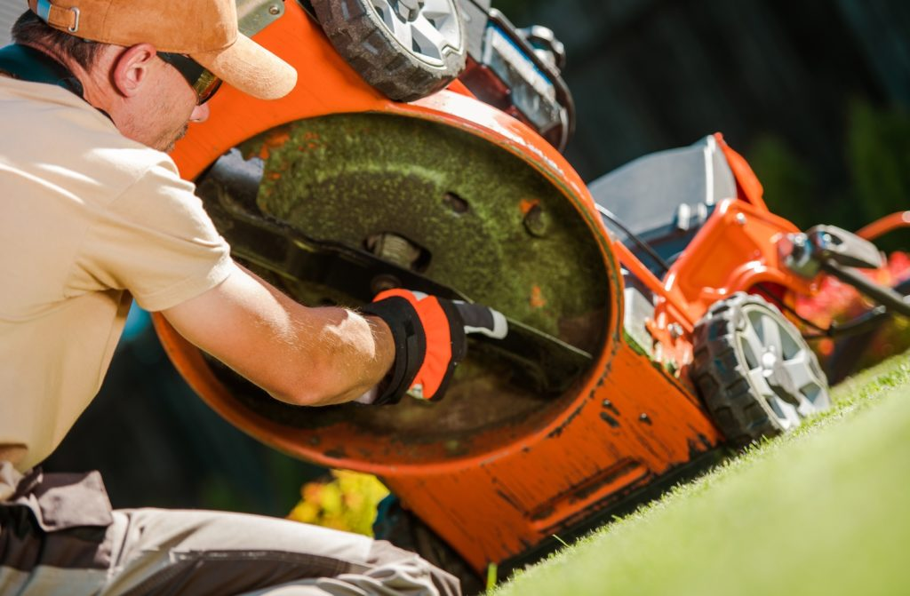 check your mower blade for wear or damage